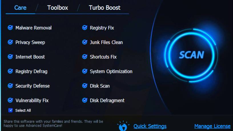 Advanced SystemCare Pro Latest Crack Key Features