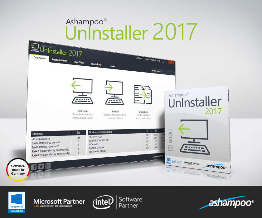 Ashampoo UnInstaller 7.00 Crack + Serial Key Free Download