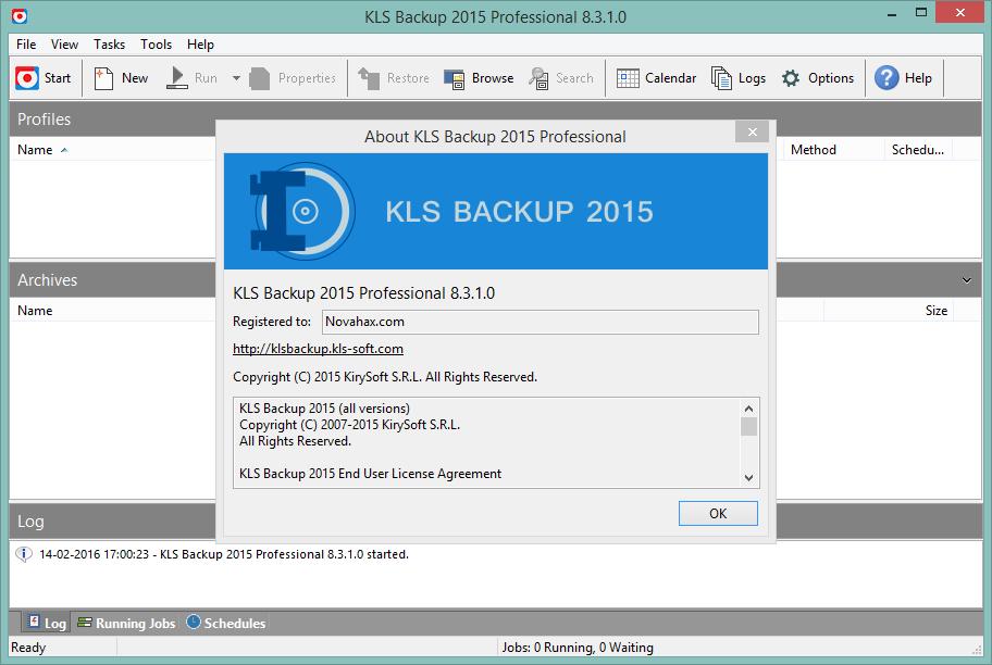KLS Backup Professional 2017 Full Version Crack + Serial Number Free Download